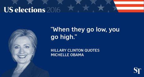 So gang lan 2 Trump - Clinton: 12 phat ngon an tuong nhat - Anh 2
