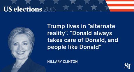 So gang lan 2 Trump - Clinton: 12 phat ngon an tuong nhat - Anh 5