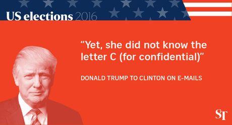 So gang lan 2 Trump - Clinton: 12 phat ngon an tuong nhat - Anh 6