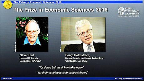 Hai giao su Harvard va MIT chia nhau giai Nobel Kinh te 2016 - Anh 1