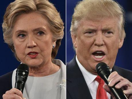 Ba Hilary Clinton tiep tuc gianh loi the trong cuoc tranh luan lan hai - Anh 1
