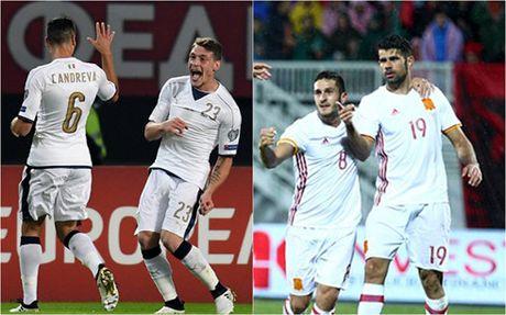 Ket qua bong da hom nay 10/10: Tay Ban Nha va Italia cung thang - Anh 1