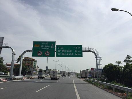Dieu chinh giam toc do xe chay tren Quoc lo 1, doan Ha Noi-Bac Giang - Anh 1