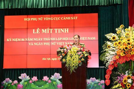Hoi Phu nu Tong cuc Canh sat mit tinh ky niem Ngay thanh lap Hoi Lien hiep Phu nu Viet Nam - Anh 1