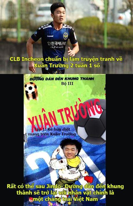 Anh che: CLB Incheon chuan bi lam truyen tranh ve Xuan Truong - Anh 1