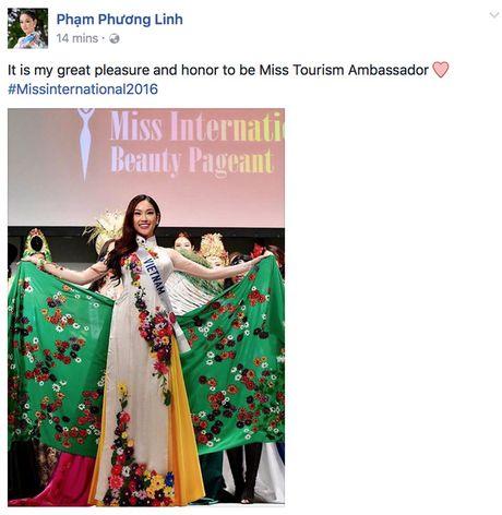 Chi vua bat dau vai ngay, dai dien Viet Nam - Phuong Linh da gianh danh hieu tai Hoa hau Quoc te 2016 - Anh 1