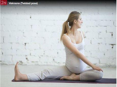 7 dong tac yoga giup ba bau luon khoe manh - Anh 2
