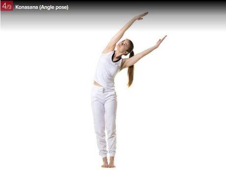 7 dong tac yoga giup ba bau luon khoe manh - Anh 4