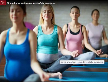 7 dong tac yoga giup ba bau luon khoe manh - Anh 9