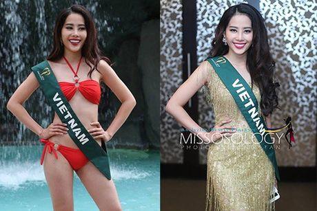 Nam Em khoe voc dang san chac voi bikini tai Miss Earth - Anh 1