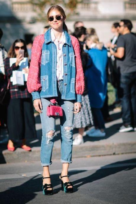 Street Style Paris Fashion Week 2017 - dinh cao cua su don gian - Anh 4