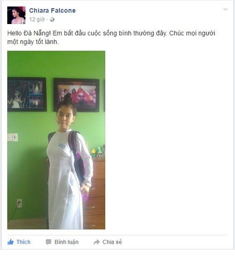 Ban be vui mung hon ho don chao Chiara tro ve voi truong lop - Anh 1