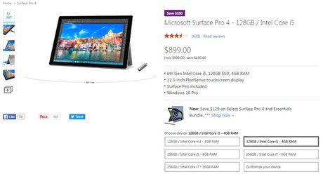Microsoft lien tuc giam gia Surface Pro 4, chuan bi ra mat the he ke nhiem? - Anh 1