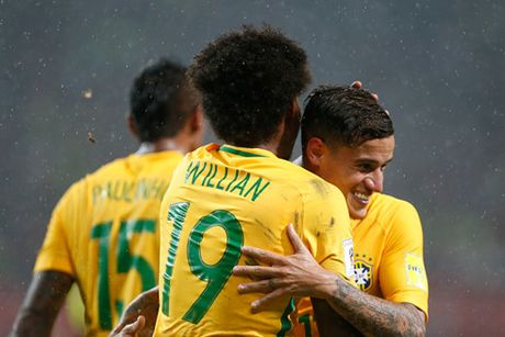 Danh bai Venezuela, Brazil len ngoi dau vong loai World Cup - Anh 1