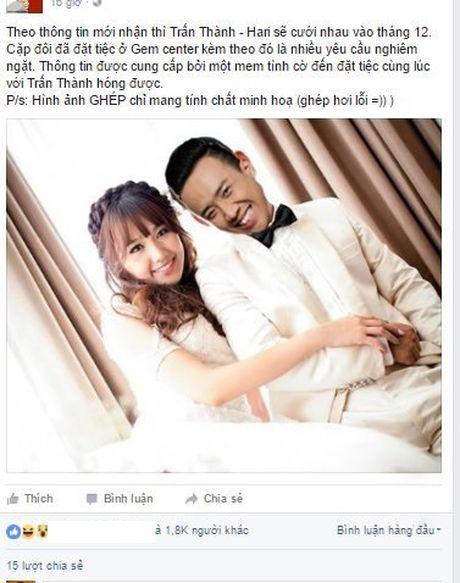 Ro tin Tran Thanh va Hari Won dam cuoi vao cuoi thang 12 - Anh 1