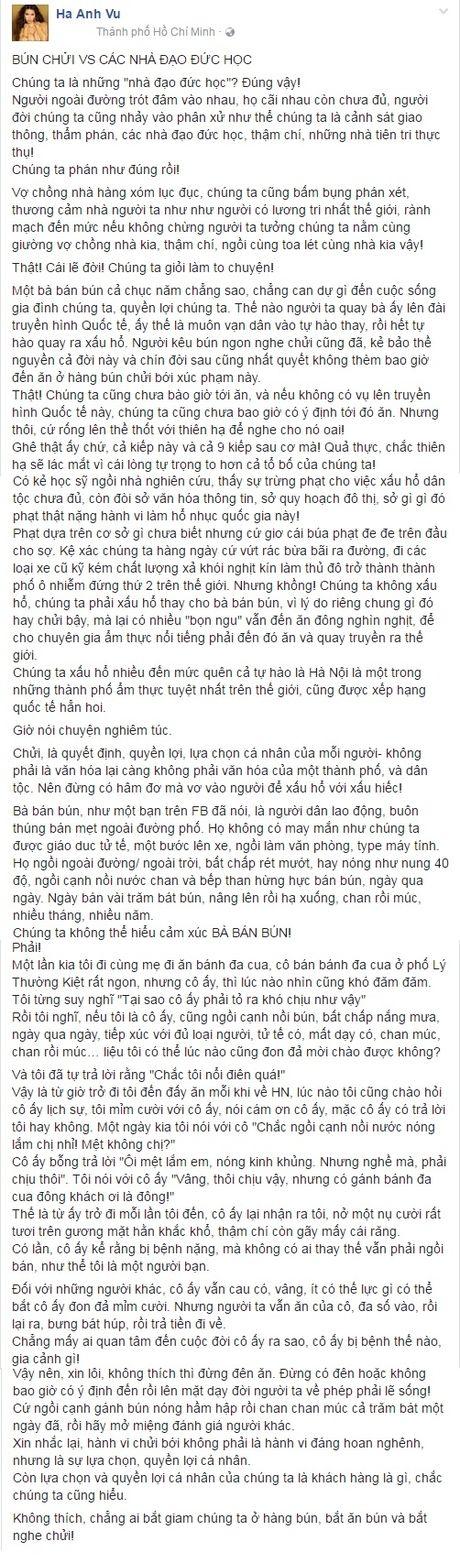 'Bun chui va cac nha dao duc hoc' - goc nhin cua sieu mau Ha Anh - Anh 4