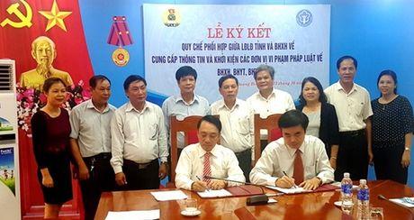 LDLD tinh Quang Binh: Khoi kien DN co hanh vi vi pham phap luat ve BHXH - Anh 1
