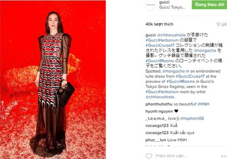 Ho Ngoc Ha xuat hien tren Instagram cua Gucci - Anh 1