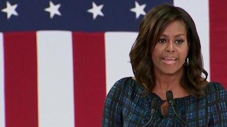 Ba Michelle Obama chi trich nang ne ung cu vien Donald Trump - Anh 1