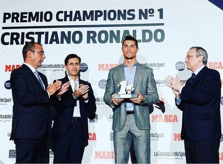Ve lai Real, Ronaldo nhan ngay giai thuong khung - Anh 1