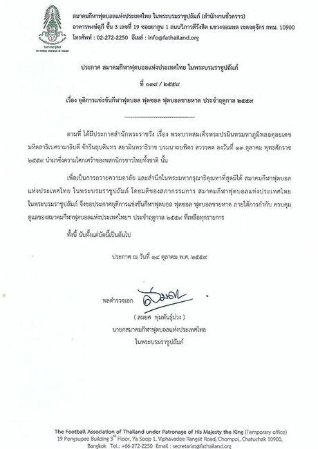 Nha vua Thai Lan bang ha, bong da Chua Vang dung hoat dong - Anh 1