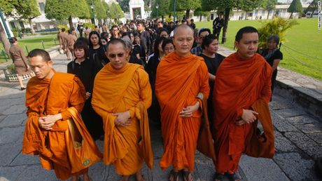 Linh cuu Quoc vuong Thai Lan duoc dua ve cung dien - Anh 1