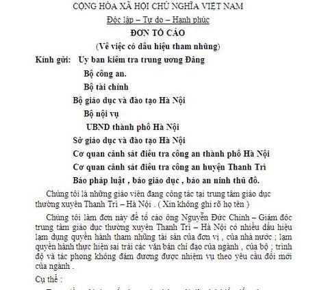 Phat hien nhieu khoan chi map mo o Trung tam giao duc thuong xuyen Thanh Tri - Anh 1