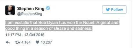 Tranh cai du doi khi Bob Dylan 'am' giai Nobel Van chuong 2016 - Anh 3