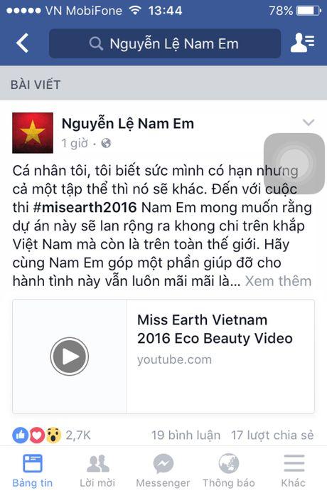 Nam Em chia se du an cong dong tai cuoc thi Hoa hau Trai dat - Anh 1