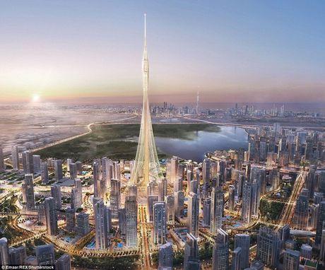 Dubai chuan bi pha ki luc ve toa nha cao nhat the gioi voi cong trinh cao hon 1km - Anh 1