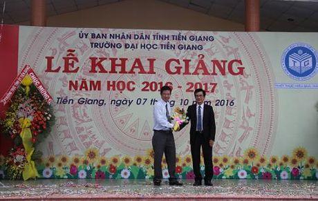 VNPT tai tro thiet bi Phong Lab va hoc bong Truong Dai hoc Tien Giang - Anh 1