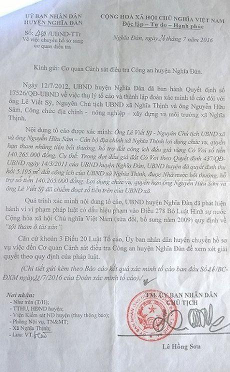 Khoi to nguyen Chu tich UBND xa vi sai pham trong quan ly dat dai - Anh 1