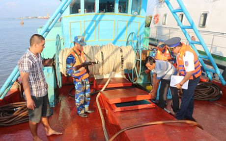 Phat hien tau cho 30.000 lit dau trai phep - Anh 1
