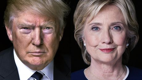 Bau cu My 2016: Donald Trump vuot Hillary Clinton trong cuoc khao sat moi - Anh 1