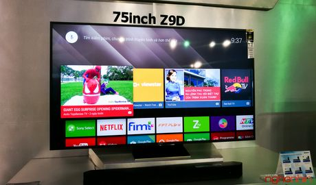 Can canh TV Bravia 4K HDR Z9D tai Sony Show 2016 - Anh 1