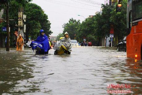 Cac truong o TP. Vinh va huyen Hung Nguyen cho hoc sinh nghi hoc vi mua lu - Anh 1