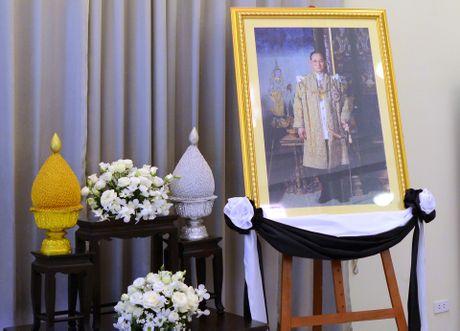 Doan nguoi xep hang vieng nha vua Thai Lan tai Ha Noi - Anh 2