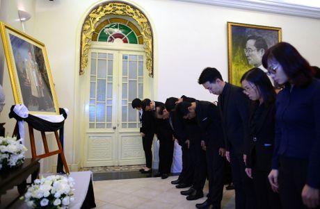 Doan nguoi xep hang vieng nha vua Thai Lan tai Ha Noi - Anh 8