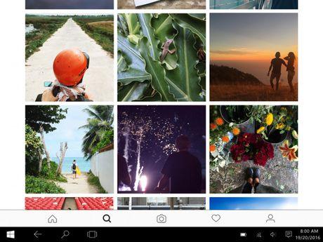 "Windows 10 co ung dung Instagram rieng truoc ca iPad vi Facebook ""qua yeu"" Microsoft - Anh 1"