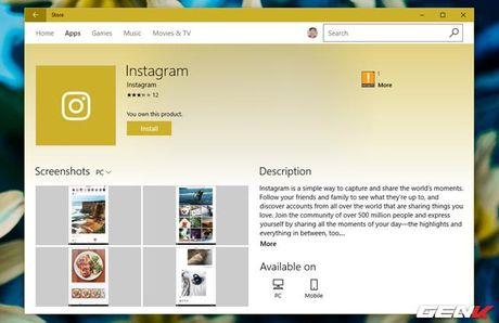 Dung thu Instagram tren may tinh Windows 10 - Anh 2