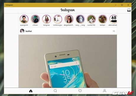 Dung thu Instagram tren may tinh Windows 10 - Anh 6
