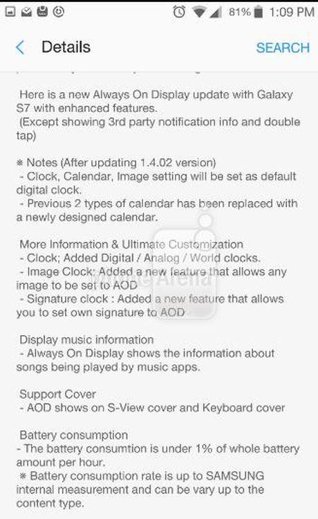 Samsung Galaxy S7 va S7 Edge nhan duoc cap nhat moi - Anh 1