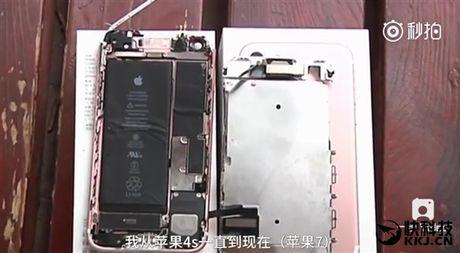 Ghi nhan truong hop iPhone 7 dau tien phat no khi dang su dung - Anh 1