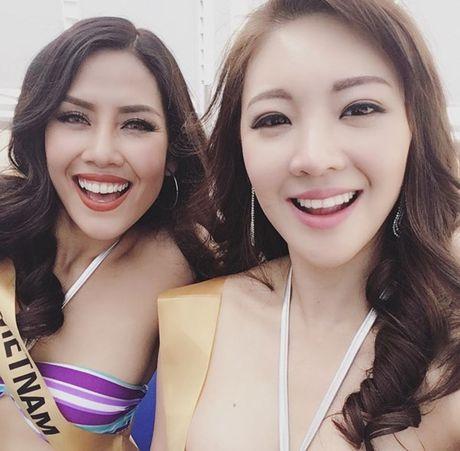 Nguyen Thi Loan khoe dang nong bong voi bikini tai Hoa hau Hoa binh 2016 - Anh 8