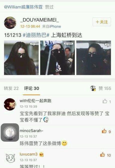 Netizen xu Trung khao nhau bang chung hen ho cua 'My nhan Tan Cuong' Dich Le Nhiet Ba va Tran Vy Dinh - Anh 1