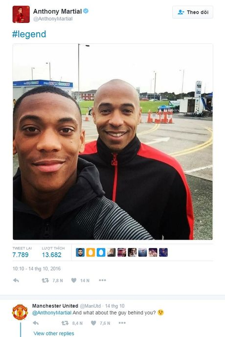 Fan Arsenal phan no vi MU coi thuong Thierry Henry - Anh 1