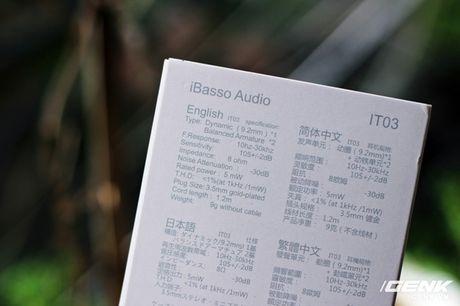 """Tai nghe in-ear iBasso IT03 vua co mat tai Viet Nam: dua con dau long cua mot """"nguoi ngoai dao"""" - Anh 3"""