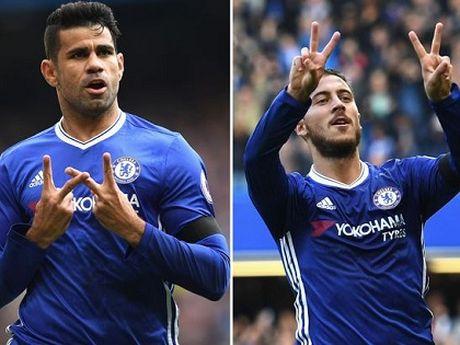 Conte: 'Day la tran HAY NHAT cua Chelsea'. Hazard: 'Toi hanh phuc vi duoc da so 10' - Anh 3