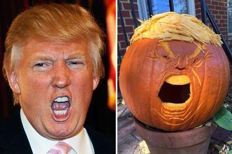 Giat minh vi qua bi ngo Halloween co bo mat ong Donald Trump - Anh 1