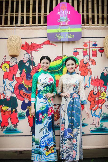 'Ban sao Tang Thanh Ha' rang ro dien ao dai do Hoa hau Ngoc Han thiet ke - Anh 7